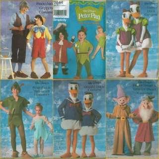 Walt Disneys Character Halloween Costume Sewing Pattern Disney