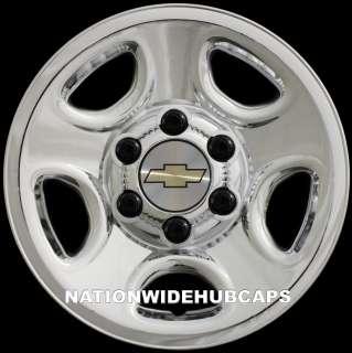 16 Chrome Wheel Skins Rim Hub Cap Covers 5Spoke Steel Wheels