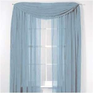Elegance Voile Blue Sheer Curtain, 60x84 Home & Kitchen