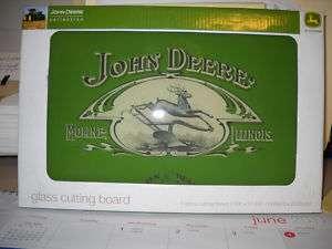 John Deere Glass Cutting Board
