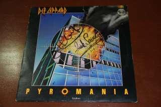 DEF LEPPARD pyromania MEXICO LP p/s FULLY SIGNED 1983 steve clark