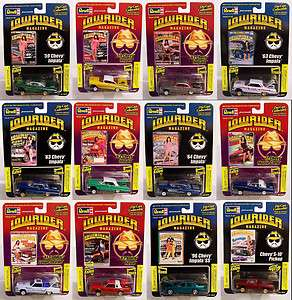NEW COMPLETE SET Revell 1/64 LOWRIDER MAGAZINE Issue CARS Diecast GET