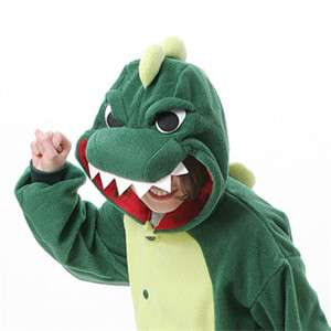 Japan Anime Green Dinosaur Cosplay Costume KIGURUMI Pajamas Xman Gift