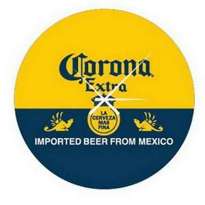 Corona Extra Beer Cerveza Glass Bar Sign Wall Clock Home