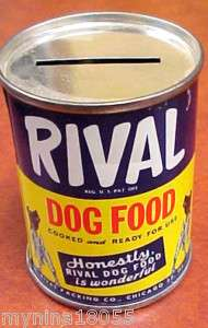 Vintage Rival Dog Food Metal Bank