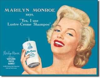 Hollywood Marilyn Monroe Shampoo TIN SIGN Poster Print