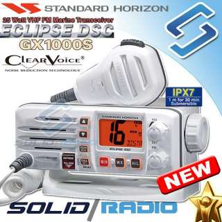 white) marine VHF radio. 100% new, factory packed and never been used