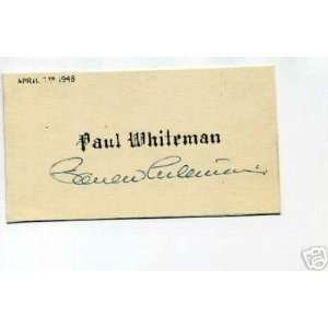 Paul Whiteman Jazz Big Band Signed Autograph   Sports