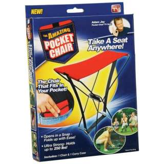 Pocket Chairs are Made in the USA for Camping Hiking Portable Folding