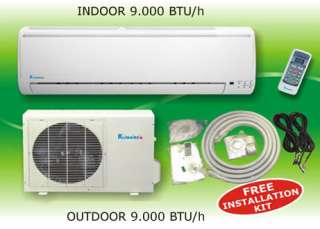 9000 Btu Ductless Mini Split Heat Pump Air Conditioner