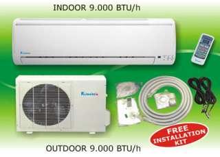 9000 Btu Ductless Mini Split Heat Pump Air Conditioner