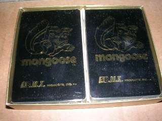 VINTAGE 1970S 1980 OLD SCHOOL BMX BIKE MONGOOSE PLAYING CARDS NOS MIB