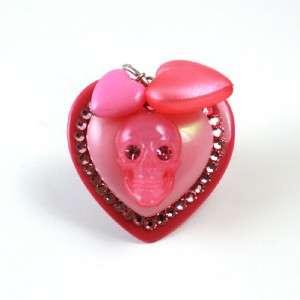TARINA TARANTINO I Love Hearts PINK Skull Heart Ring