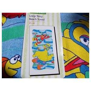 Elmo Big Bird Sesame Street Beach Towel