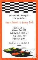 Custom Race Car/Hot Wheels/Nascar Birthday Invitations