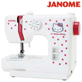 Youre seeing a very cute Janome Hello Kitty polka dot sewing machine