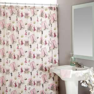 Tres Chic Black Pink Shower Curtain Bath