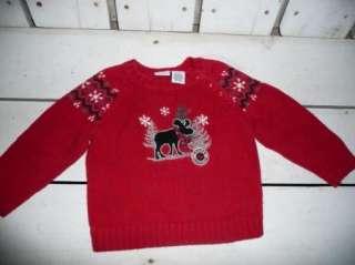 Kids Ugly ? Christmas Sweater Nordic Moose Crossing 18m