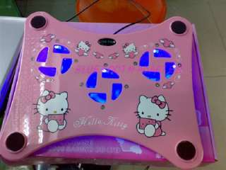 HELLO KITTY COOLER PAD COOLING 3 Fans FOR DELL Laptop