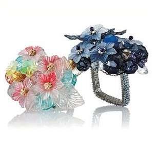 Kim Seybert Bouquet Set of Four Napkin Rings   Multi