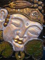 Balinese Twin Buddha Panel~Hand Carved Wood Bali Buddhist Asian Wall