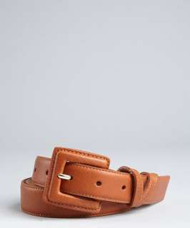 Vince Camuto luggage brown skinny leather belt