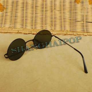 Sunglasses 60s Round Frame Shades Sunnies Vintage Retro Clear Glasses