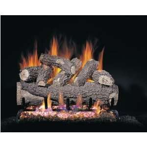 Oak Vented Propane Gas Log Set W/ G45 Burner And Variable Flame Remote