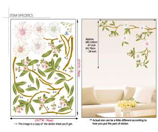 PEACH FLOWER ★ MURAL ART DOCOR WALL PAPER STICKER DECAL
