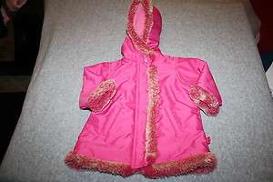 Months The Childrens Place Pink Fleece Lined Winter Coat Fur Trim