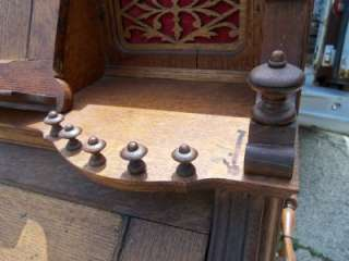 Antique CF Netzow Bristol Pump Organ Oak Carved Victorian Reed Pedal