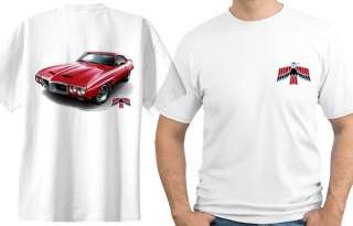 1969 Pontiac Firebird Trans Am Muscle Car Cartoon Tshirt #9485