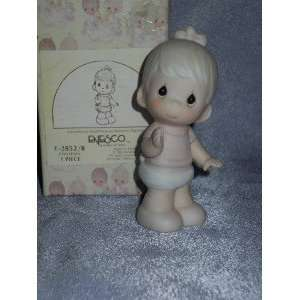 : Precious Moments Baby Figurines E 2852/b Porcelain Figurine: Baby