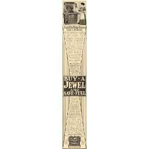 1909 Ad Jewel Steel Range Stove Kitchen Fuel Cast Cook   Original