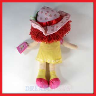 16.5 Strawberry Shortcake Yellow Dress Plush Doll