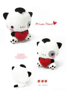 NEW anime MINECO HEART PLUSH TOY STUFFED cute DOLL S wh