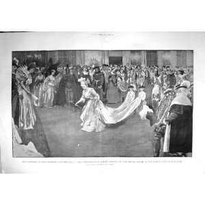 1897 Duchess Devonshire Costume Ball White Gold Saloon