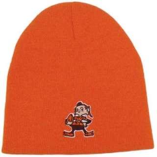 NFL Cleveland Browns Throwback Logo Orange Cuffless Beanie Knit Toque