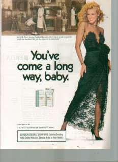 1989 Print Ad Virginia Slims Lights Cigarettes Beauty