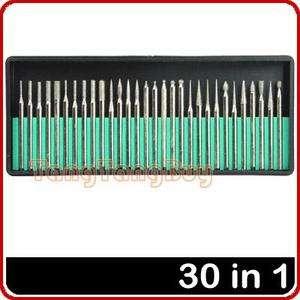 30 Diamond Burrs For Dremel Rotary Tool Drill Bit
