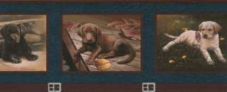 Labrador Retriever Puppies Wallpaper Border