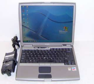 DELL LATITUDE D600 WINDOWS XP PRO WI FI LAPTOP COMPUTER W/ CHARGER