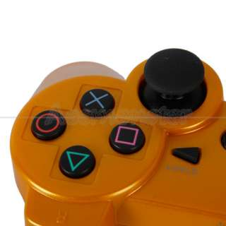 Wireless Bluetooth Controller for Sony Playstation 3 PS3 Gold Free