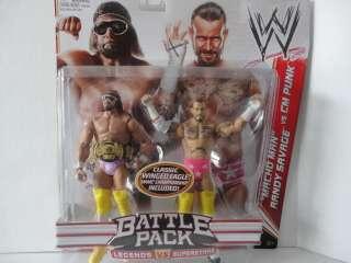 WWE MACHO MAN RANDY SAVAGE VS CM PUNK 2 PACK MATTEL
